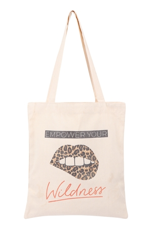 S29-9-3-B8027 - WOMEN'S PRINTED  EMPOWER  TOTE BAG/6PCS