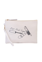 "AN-K-6-3-BG362X013-""LIPS AND EYES"" COSMETIC BAG/6PCS"