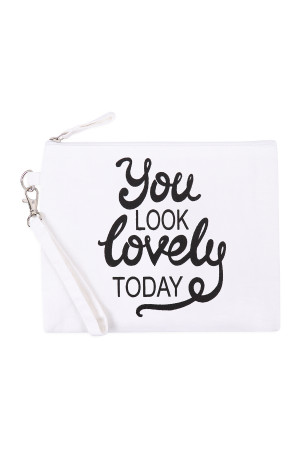 S20-11-1-BG452X015 - YOU LOOK LOVELY TODAY COSMETIC POUCH/6PCS