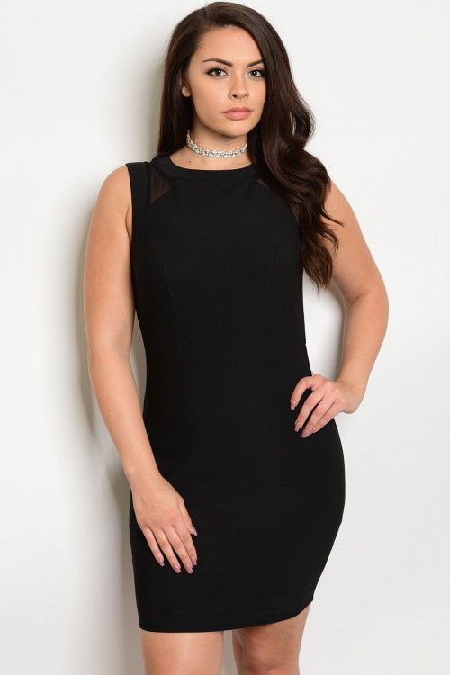 104-4-2-D3615 BLACK PLUS SIZE DRESS 1-2-2-1