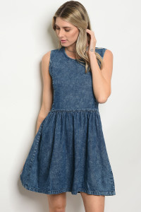 118-1-3-D113 BLUE DENIM DRESS 3-1