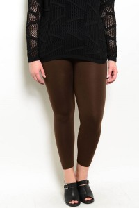 S13-5-2-SGL07X COFFEE PLUS SIZE LEGGINGS / 10PCS