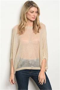 S19-3-4-S11660 #S3-P17 TAUPE SWEATER 3-3
