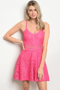 S8-3-5-D8034 FUCHSIA LACE DRESS 2-2-2
