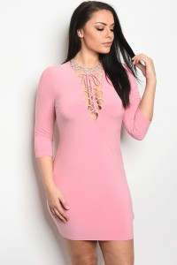 C11-A-3-D40131X DUSTY PINK PLUS SIZE DRESS 2-2-2