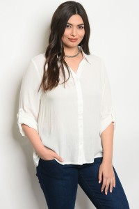 103-5-4-T98836X IVORY PLUS SIZE TOP 2-2-2