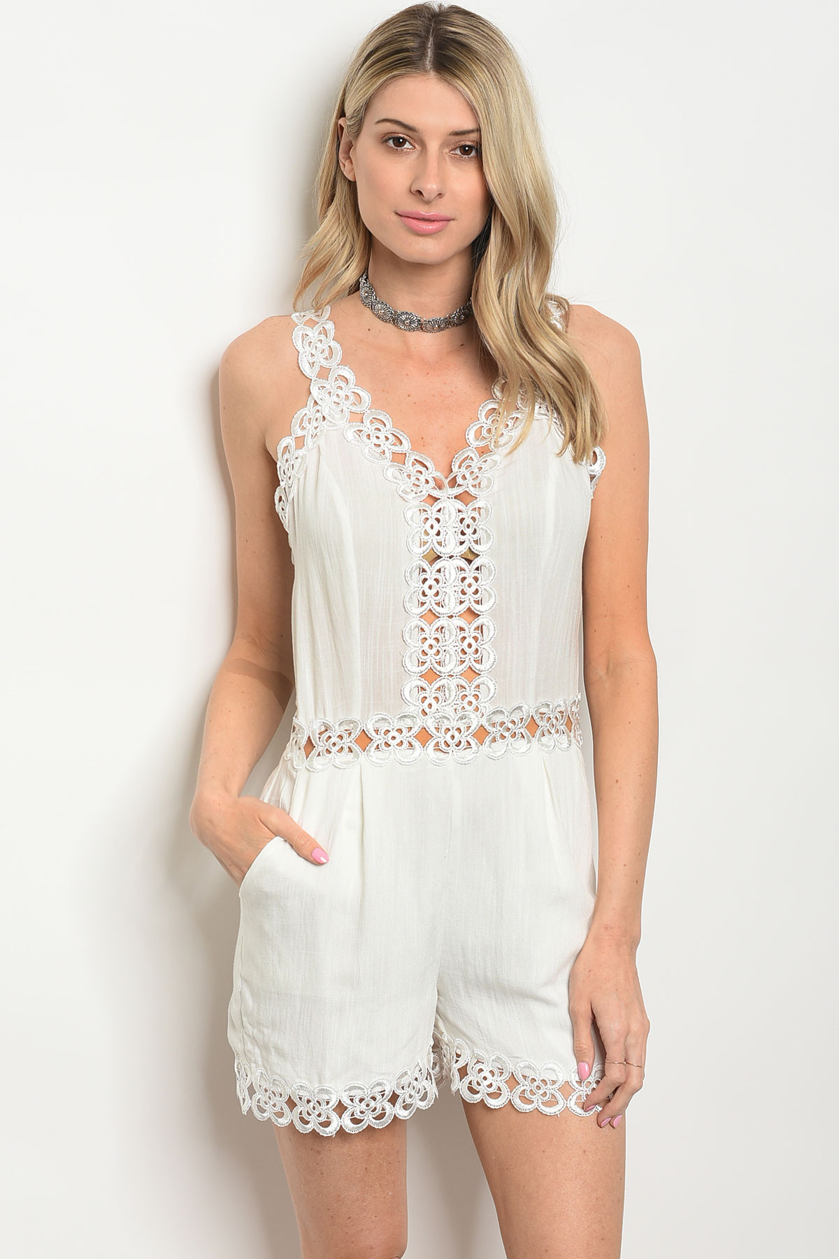 0bade8ed9bfe ... WHITE CROCHET ROMPER 2-2-2 · Larger Photo ...