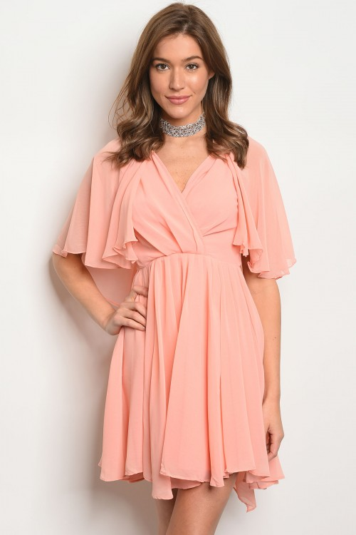 S14-6-5-D7514 PINK LACE RUFFLE DRESS 2-3-1