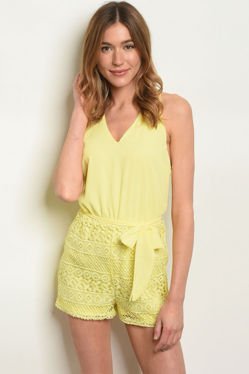 S8-2-1-RDP305440 YELLOW CROCHET ROMPER 2-2-2