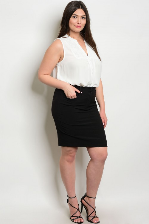 135-3-3-S92551X BLACK PLUS SIZE SKIRTS 3-1