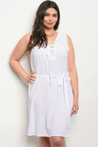 S10-19-1-D4599X WHITE PLUS SIZE DRESS 2-2-2