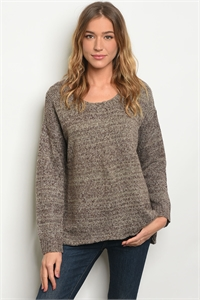 S10-13-4-S12628 MOCHA BLACK SWEATER 2-2-2