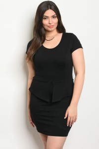 C96-A-3-D9627X BLACK PLUS SIZE DRESS 2-2-2
