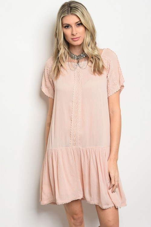 107-4-2-D41222 LIGHT PINK DRESS 1-2-2
