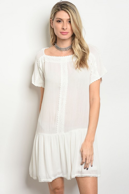 107-4-2-D41222 OFF WHITE DRESS 1-2-2