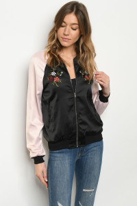 S11-13-3-J220432 BLACK LIGHT PINK JACKET 2-2-2
