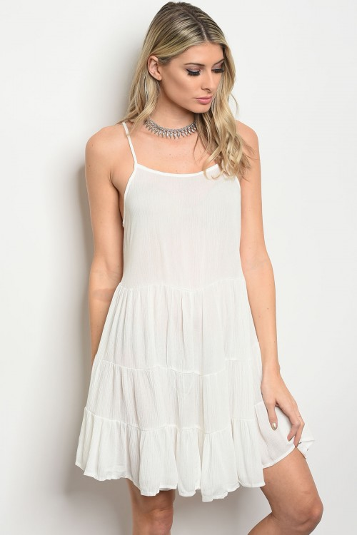 105-6-1-D1405151 OFF WHITE RUFFLE DRESS 2-2-2