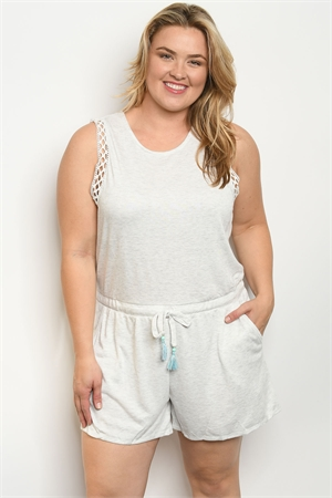 3fdfb4aa971d Quick View this Product S15-2-1-R70068 OATMEAL PLUS SIZE ROMPER 2-2-1