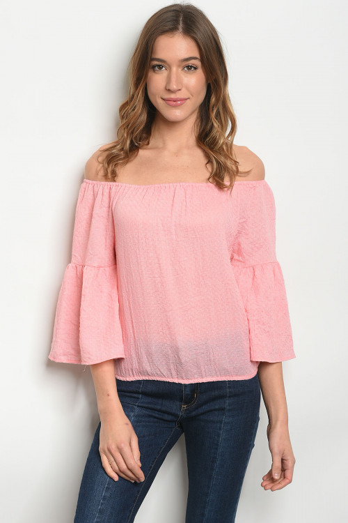 S17-4-2-TRP8677 PINK OFF SHOULDER TOP 2-2-2