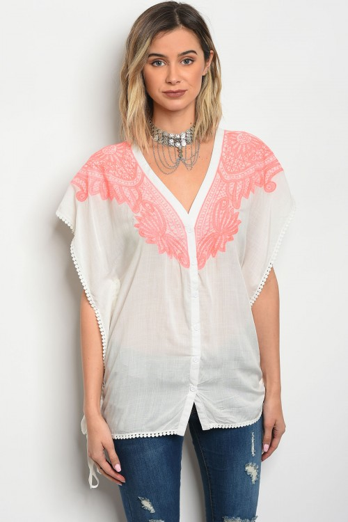 109-4-4-T22512 OFF WHITE PINK TOP 3-2-1