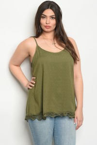 S9-11-4-T8404X OLIVE PLUS SIZE TOP 2-2-2