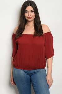 C37-A-6-TZ8422S RUST PLUS SIZE TOP 2-2-2