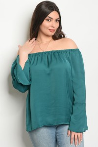 C81-B-3-TZ8473X EMERALD PLUS SIZE TOP 2-2-2