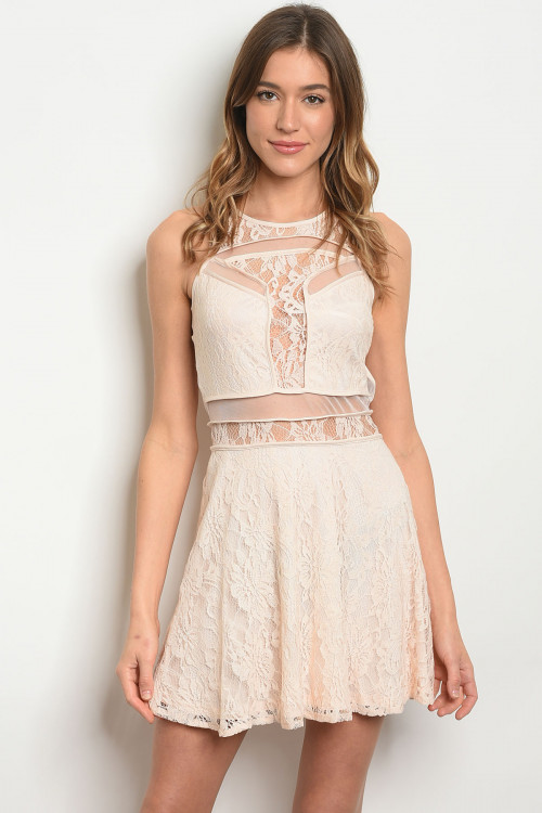 S15-9-1-D3971 LIGHT BLUSH LACE DRESS 2-2-2