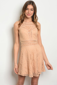 S16-9-1-D3971 TAUPE LACE DRESS 2-2-2