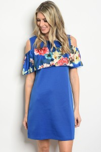 132-2-2-D1457 ROYAL FLOWER DRESS 1-2-2