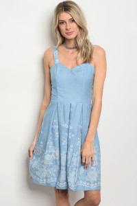 C48-A-6-D6922 LIGHT BLUE DRESS 2-2-2