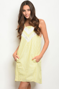 S8-5-1-D59687 LIGHT YELLOW IVORY LACE DRESS 2-2-2