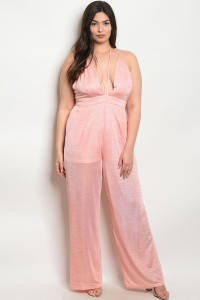 S14-6-3-J17106X PEACH PLUS SIZE JUMPSUIT 2-2-2