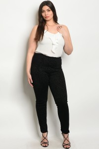 107-5-3-P1212X BLACK PLUS SIZE PANTS 2-2-2