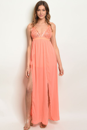 S17-9-6-DMA8090 SALMON DRESS 3-2-1