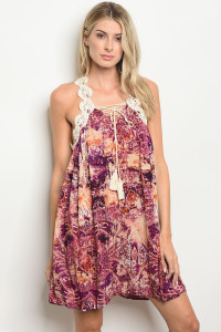 S12-12-1-D9509 PURPLE ORANGE DRESS 2-2-2