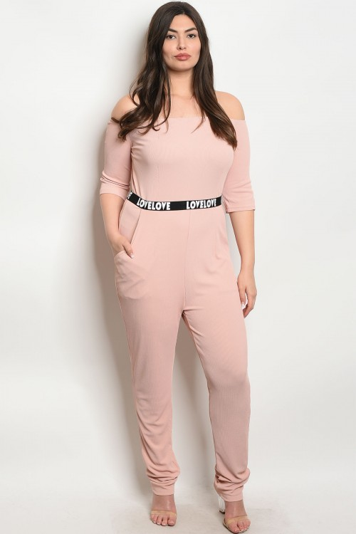 S6-3-2-J1456010X BLUSH PLUS SIZE JUMPSUIT 2-2-2