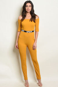 S17-1-2-J1456010 MUSTARD OFF SHOULDER JUMPSUIT 2-2-2