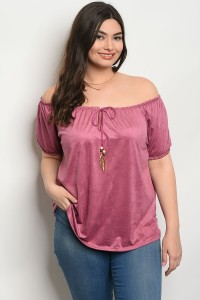 C67-B-4-T8500X ROSE PLUS SIZE TOP 2-2-2