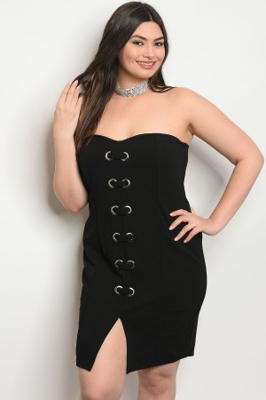 C77-A-4-D6813X BLACK PLUS SIZE TOP 2-2-2