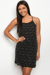 S10-11-3-D8324 BLACK WITH BEADS DRESS 2-2-2
