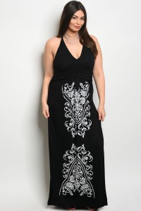 C79-A-3-D2485X BLACK PLUS SIZE DRESS 2-2-2