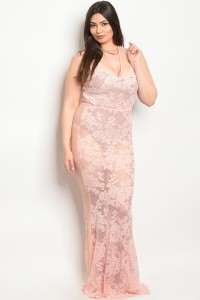 C89-A-7-D050157X PEACH PLUS SIZE DRESS 2-2-2
