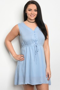 S10-11-2-D2240X BLUE PLUS SIZE DRESS 2-2-2