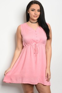 S8-14-3-D2240X PINK PLUS SIZE DRESS 2-2-2