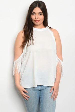 S15-2-3-T3807X OFF WHITE PLUS SIZE TOP 2-2-2