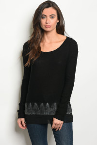 S7-3-1-T00075 BLACK SWEATER 2-2-2