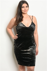 C57-A-1-ZD8463X BLACK BROWN TIE DYE PLUS SIZE DRESS 2-2-2