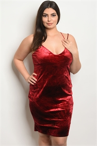 C57-A-1-ZD8463X BURGUNDY BLACK TIE DYE PLUS SIZE DRESS 2-2-2