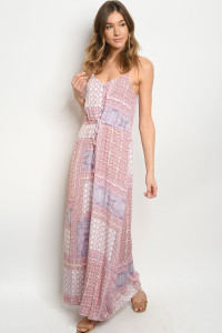 S14-12-4-D83079 PINK OFF WHITE DRESS / 1-2-2